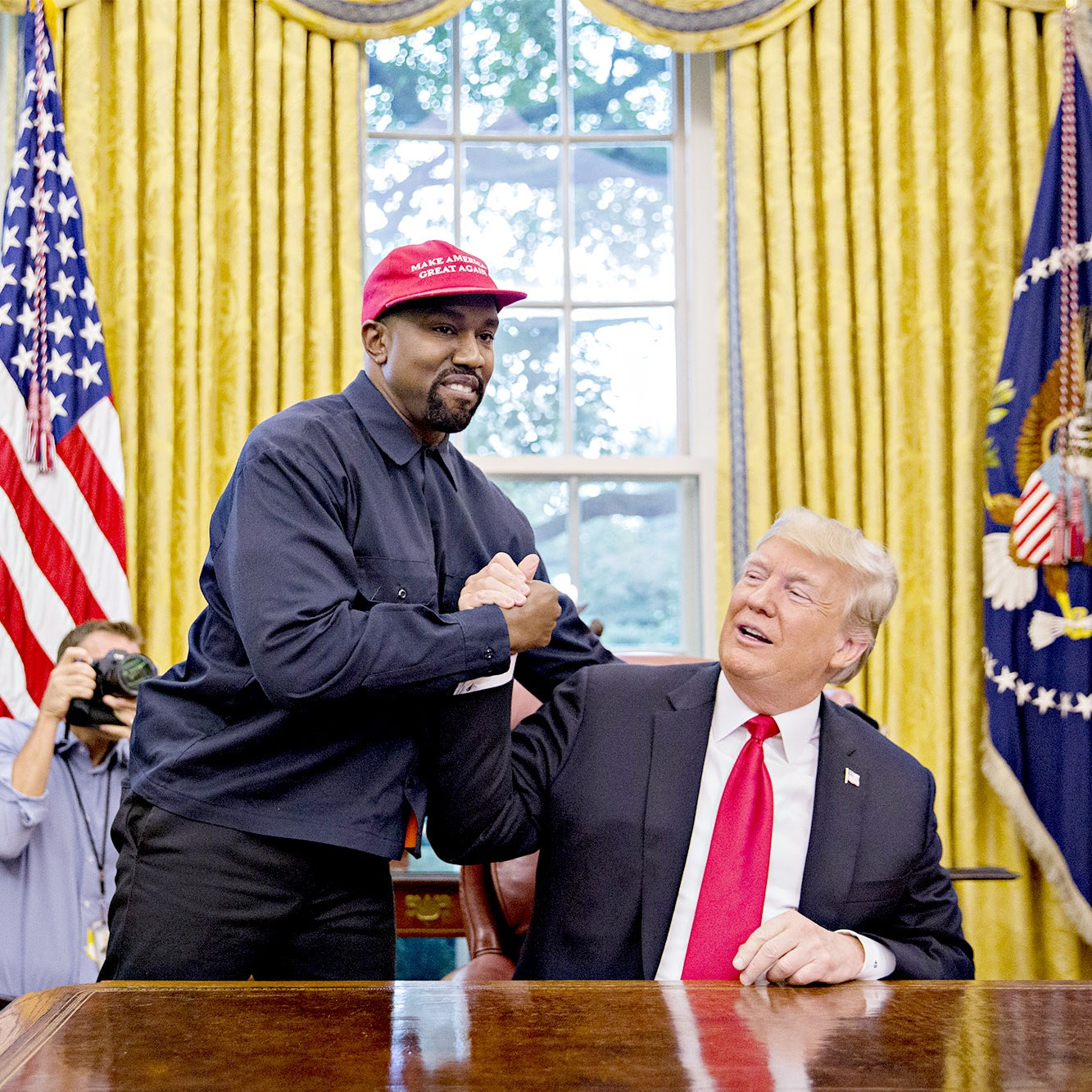 Kanye West Meets Trump WH