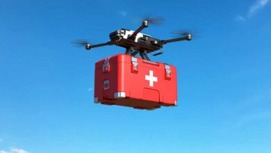 medical delivery drone GettyImages 1203770153