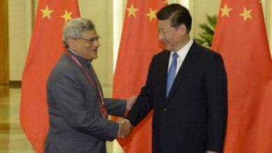 CPI M General Secretary Sitaram Yechury calls on the President of China Xi